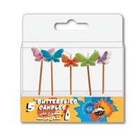 Fun® Birthday Candles  - Butterflies | 5pcsx12pkts