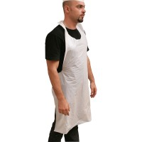 HDPE Disposable Apron 28x46in - White | 40pcsx25pkts