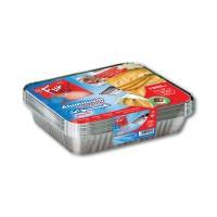 Fun® Aluminium Container w/ Lid 1200cc | 10pcsx40pkts