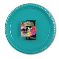 Fun® Plastic Plate ⌀25cm - Turquoise | 10pcsx25pkts