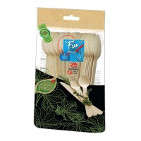 Fun® Wooden Spoon ⌀6.5in - Evergreen   25pcsx20pkts