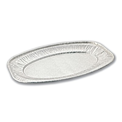 Oval Aluminium Platter 548x359x24mm | 50pcs