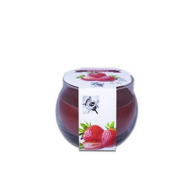Fun® Scented Candles in Round Glass 8x7.2cm - Strawberry | 1pcx6pkts