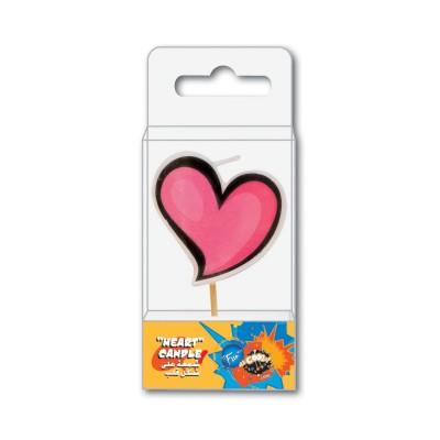Fun® Birthday Candle - Heart | 1pcx10pkts
