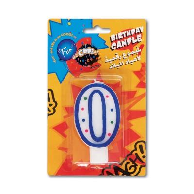 Fun® Birthday Candle - Numeral 0   1pcx24pkts