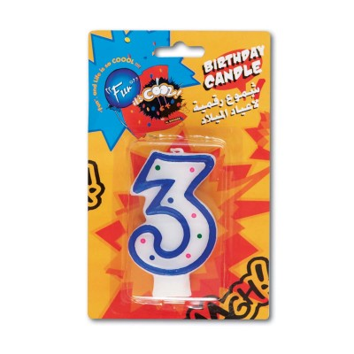 Fun® Birthday Candle - Numeral 3 | 1pcx24pkts