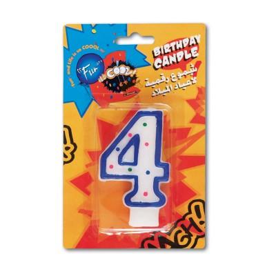 Fun® Birthday Candle - Numeral 4 | 1pcx24pkts