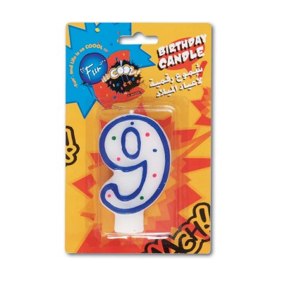 Fun® Birthday Candle - Numeral 9 | 1pcx24pkts