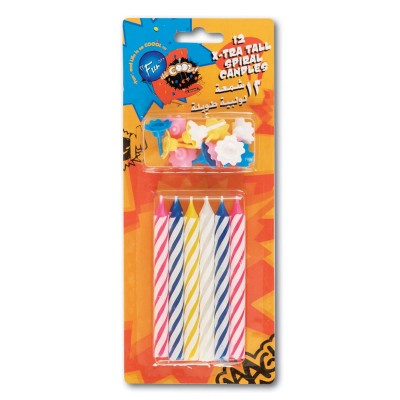 Fun® Birthday Candles - Spiral Xtra - Tall | 12pcsx24pkts