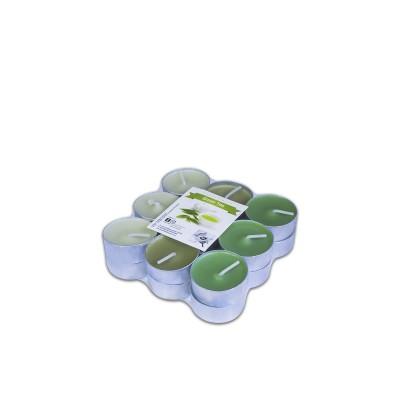 Fun® Scented Tealight Candles 3.8x1.5cm - Green Tea | 18pcsx6pkts