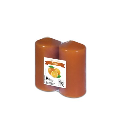 Fun® Scented Tall Pillar Candles 6x12cm - Orange | 2pcsx6pkts