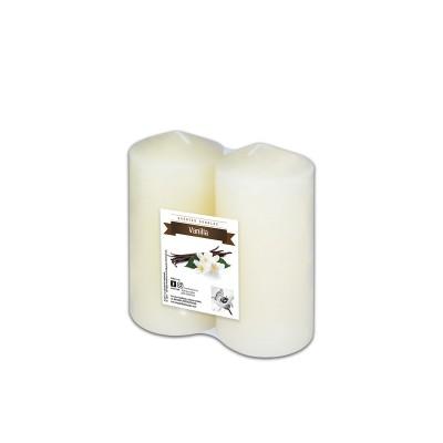Fun® Scented Tall Pillar Candles 6x12cm - Vanilla   2pcsx6pkts