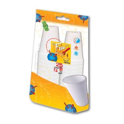 Fun® Foam Cup 8oz - White | 25pcsx40pkts