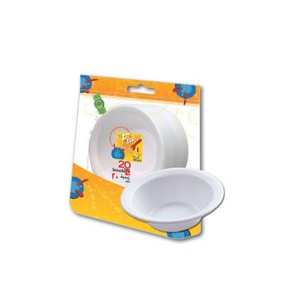 Fun® Foam Bowl 4oz - White   20pcsx50pkts