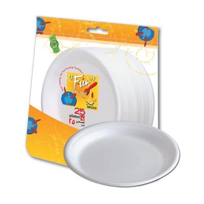 Fun® Foam Plate ⌀9in - White | 25pcsx20pkts