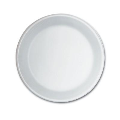 Foam Plate ⌀9in - White | 500pcs