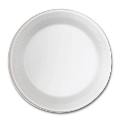 Foam Plate ⌀10.25in - White | 500pcs