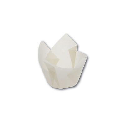 Grease-Proof Slip-Easy Paper Tulip Cups 50x60mm -White | 2700pcs