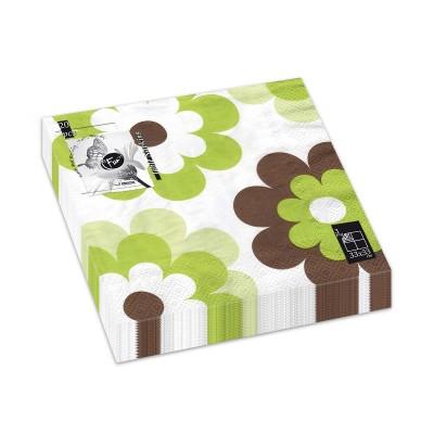 Fun® 3-Ply Napkin 33x33cm - Evergreen 3 | 20pcsx12pkts