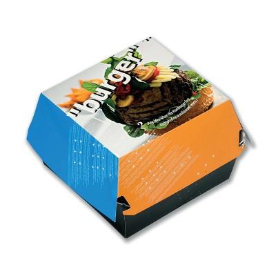 Paper Burger Box 110x110x60mm   100pcsx5pkts