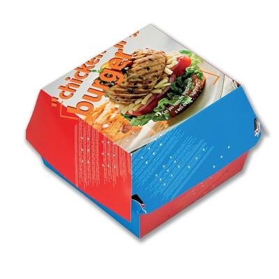 Paper Chicken Burger Box 110x110x60mm | 100pcsx5pkts