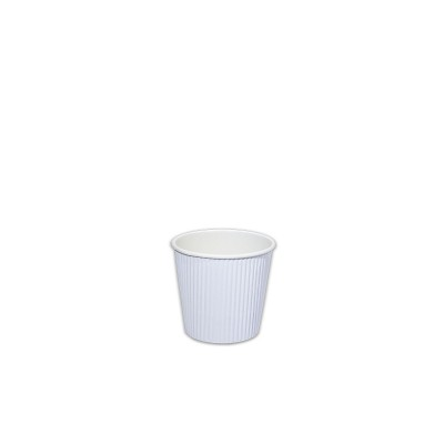 Ruffles Insulated White Paper Cup 4oz - White | 1000pcs