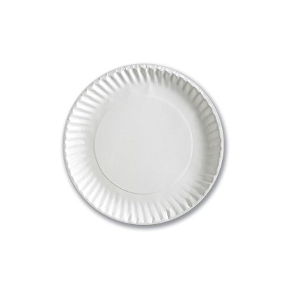 Standard Paper Plate ⌀9in - White | 100pcsx12pkts