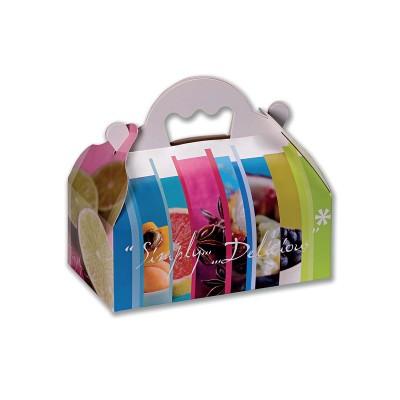 Paper Punnet Box 18x16x7cm - Simply Delicious | 50pcs