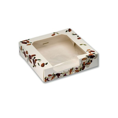 Square Cardboard Cake Box w/ Window 23x23x5.5cm   160pcs