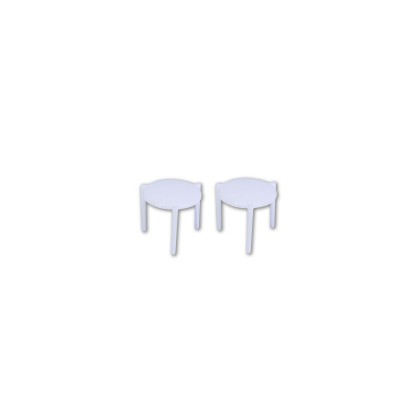 White Plastic Stand for Cardboard Pizza Boxes | 1000pcs