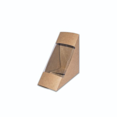 Brown-Craft Cardboard Sandwich-Wedge Pack 185x70x90mm | 500pcs