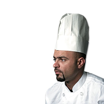 Chefs Paper Hat 9in - Rounded Top   50pcsx5pkts