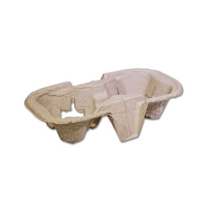 Moulded-Fibre 2-Cups Takeaway Drinks Carrier | 100pcsx6pkts