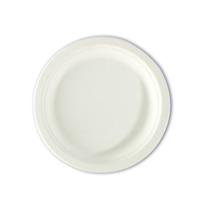 Biodegradable Moulded-Fibre Plate ⌀7in   50pcsx20pkts