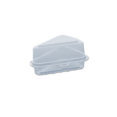 Pastripac Single-Piece Clear Cake Box 160x160x140mm w/ Lid PET | 500pcs