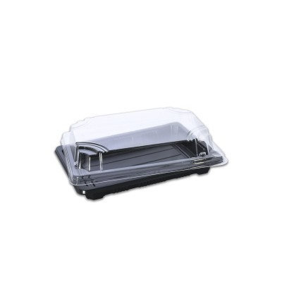 Tuttiblac Black Rectangular Container 185x128x43mm +Lid | 500pcs