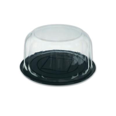 Pastripac ⌀230x110mm Black Base+Clear Dome Lid | 100pcs
