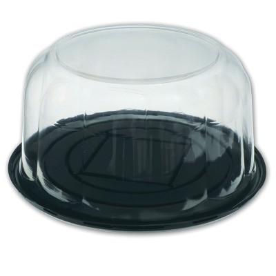 Pastripac ⌀270x110mm Black Base+Clear Dome Lid | 100pcs