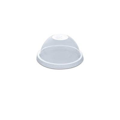 Dome Lid w/ Straw Slot (Pre-Cut X) for PET Clear Cups 12/14oz - PET | 50pcsx20pkts