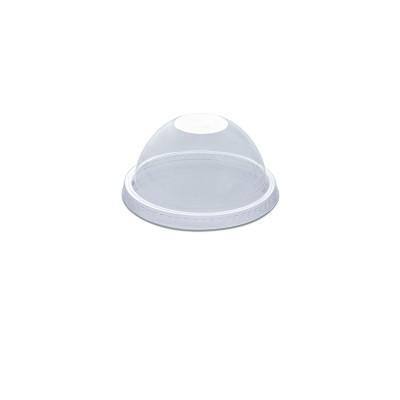 Dome Lid w/o Straw Slot for PET Clear Cups 12/14oz - PET | 50pcsx20pkts