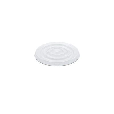 Flat Lid w/ Straw Slot (Pre-Cut X) for PP Clear Cups 12/14oz - PET | 50pcsx20pkts
