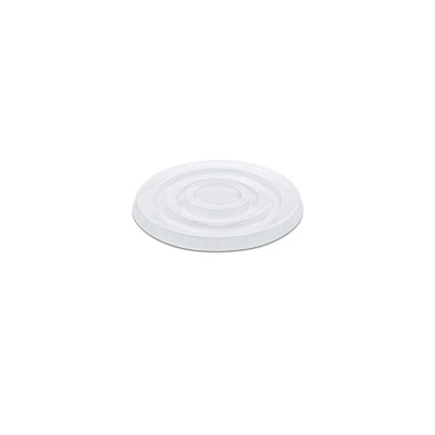 Flat Lid w/o Straw Slot for PP Clear Cups 12/14oz - PET | 50pcsx20pkts