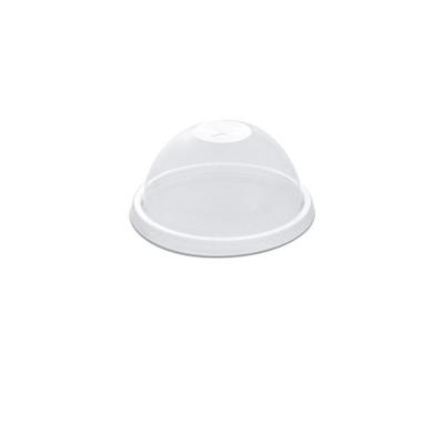 Dome Lid w/ Straw Slot (Pre-Cut X) for PP Clear Cups 16/24oz - PET | 50pcsx20pkts