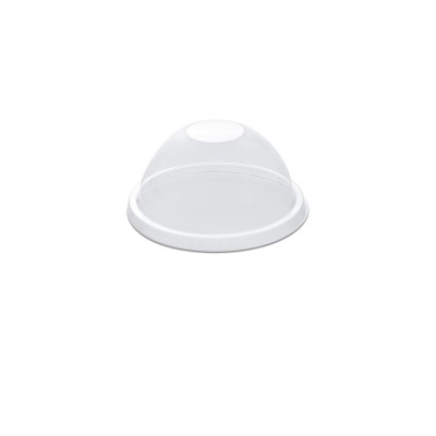 Dome Lid w/o Straw Slot for PP Clear Cups 16/24oz - PET | 50pcsx20pkts