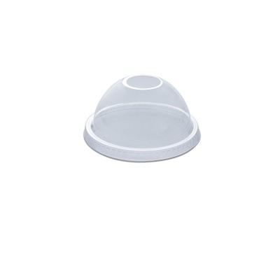Dome Lid w/ Straw Slot (Hole) for PET Clear Cups 16/24oz - PET | 50pcsx20pkts