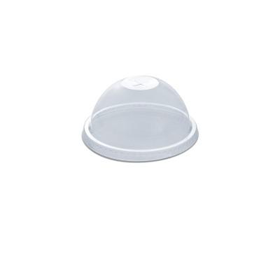 Dome Lid w/ Straw Slot (Pre-Cut X) for PET Clear Cups 16/24oz - PET | 50pcsx20pkts