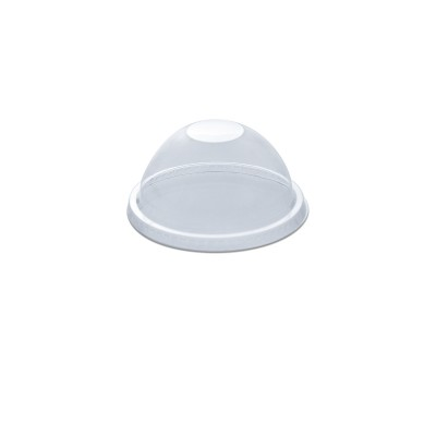 Dome Lid w/o Straw Slot for PET Clear Cups 16/24oz - PET | 50pcsx20pkts
