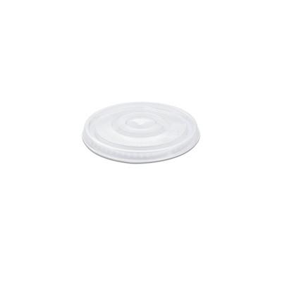 Flat Lid w/ Straw Slot (Pre-Cut X) for PP Clear Cups 16/24oz - PET | 50pcsx20pkts