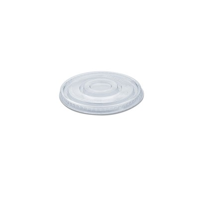 Flat Lid w/o Straw Slot for PET Clear Cups 16/24oz - PET | 50pcsx20pkts