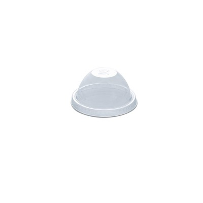 Dome Lid w/ Straw Slot (Pre-Cut x) for PET Clear Cups - 2.5/10oz - PET| 50pcsx20pkts